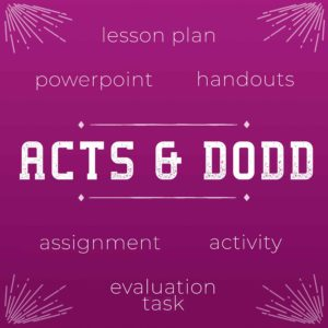 Acts & Dodd Lesson Bundle