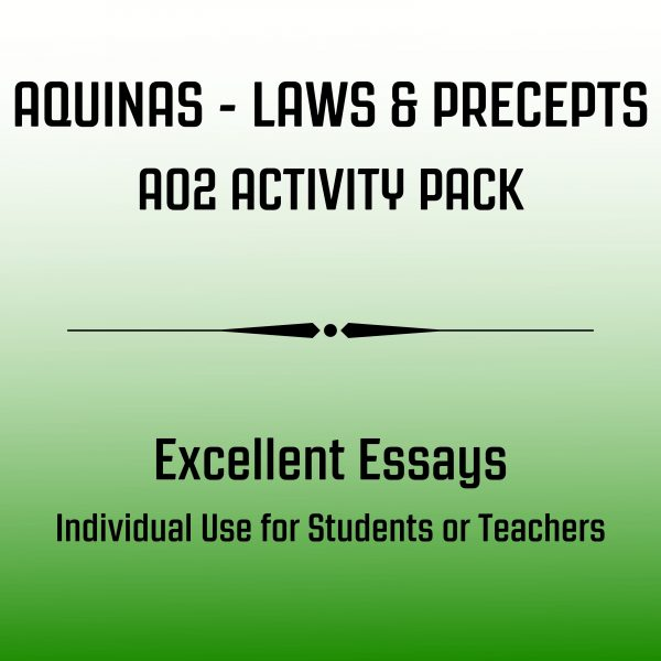 Aquinas Laws & Precepts Excellent Essays Image