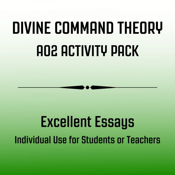 Divine Command Theory Excellent Essay Pack Image