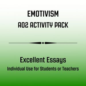 Emotivism AO2 Essay Pack for Students Image