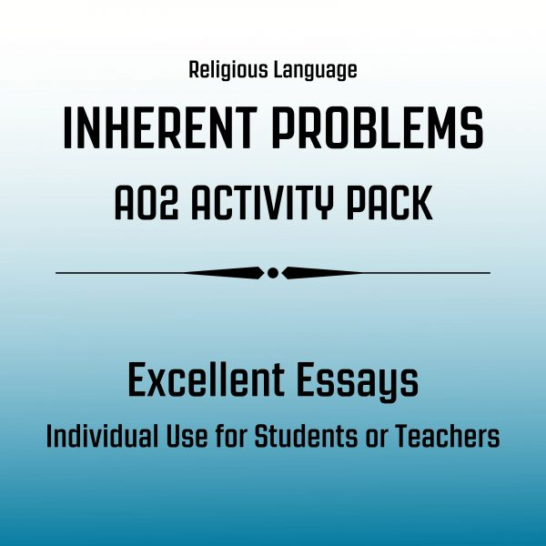 Excellent Essay Pack Religious Language Inherent Problems AO2